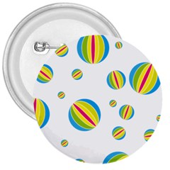 Balloon Ball District Colorful 3  Buttons