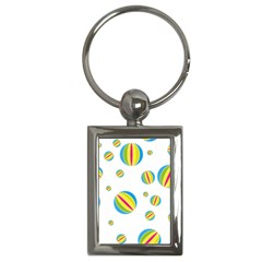 Balloon Ball District Colorful Key Chains (rectangle)