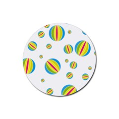 Balloon Ball District Colorful Rubber Coaster (round)