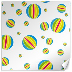 Balloon Ball District Colorful Canvas 20  X 20