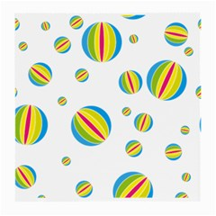 Balloon Ball District Colorful Medium Glasses Cloth