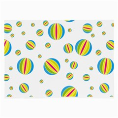 Balloon Ball District Colorful Large Glasses Cloth