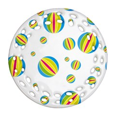 Balloon Ball District Colorful Ornament (round Filigree)