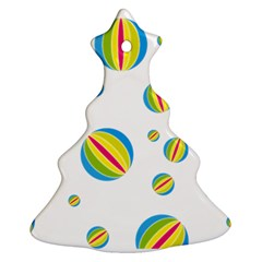 Balloon Ball District Colorful Christmas Tree Ornament (two Sides)