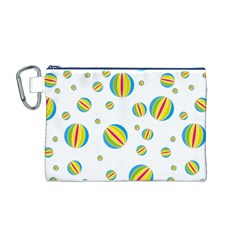 Balloon Ball District Colorful Canvas Cosmetic Bag (m)