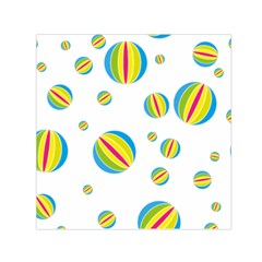 Balloon Ball District Colorful Small Satin Scarf (square)