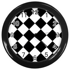 Grid Domino Bank And Black Wall Clocks (black)