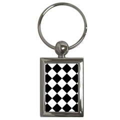 Grid Domino Bank And Black Key Chains (rectangle)