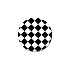 Grid Domino Bank And Black Golf Ball Marker (4 Pack)