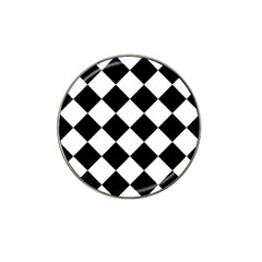 Grid Domino Bank And Black Hat Clip Ball Marker (10 Pack)