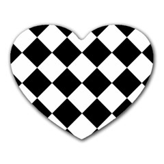 Grid Domino Bank And Black Heart Mousepads