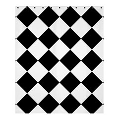 Grid Domino Bank And Black Shower Curtain 60  X 72  (medium)