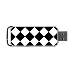 Grid Domino Bank And Black Portable Usb Flash (two Sides)