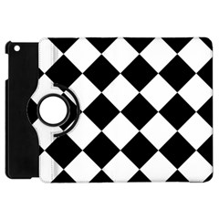 Grid Domino Bank And Black Apple Ipad Mini Flip 360 Case