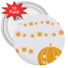 Pumpkin Halloween Deco Garland 3  Buttons (10 Pack)