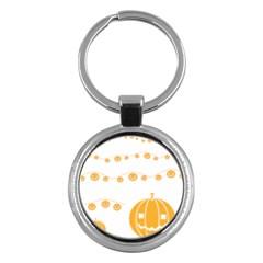Pumpkin Halloween Deco Garland Key Chains (round)