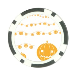 Pumpkin Halloween Deco Garland Poker Chip Card Guard