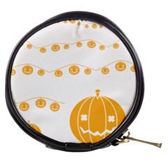Pumpkin Halloween Deco Garland Mini Makeup Bags