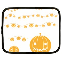 Pumpkin Halloween Deco Garland Netbook Case (xl)