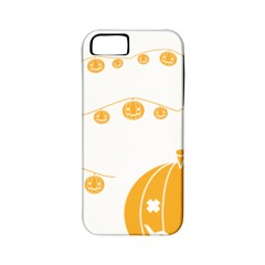Pumpkin Halloween Deco Garland Apple Iphone 5 Classic Hardshell Case (pc+silicone)
