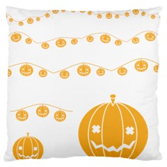 Pumpkin Halloween Deco Garland Standard Flano Cushion Case (one Side)
