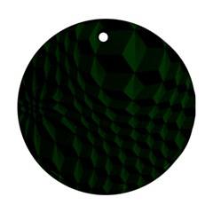 Pattern Dark Texture Background Ornament (round)