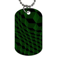 Pattern Dark Texture Background Dog Tag (one Side)
