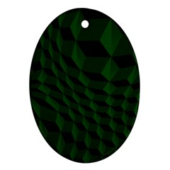 Pattern Dark Texture Background Oval Ornament (two Sides)