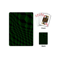 Pattern Dark Texture Background Playing Cards (mini)