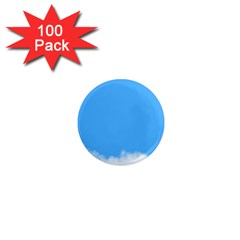 Sky Blue Blue Sky Clouds Day 1  Mini Magnets (100 Pack)