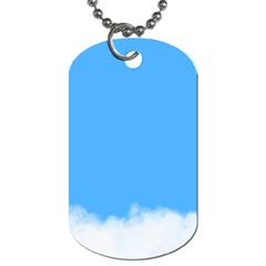 Sky Blue Blue Sky Clouds Day Dog Tag (one Side)