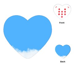 Sky Blue Blue Sky Clouds Day Playing Cards (heart)