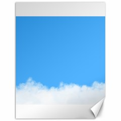 Sky Blue Blue Sky Clouds Day Canvas 12  X 16