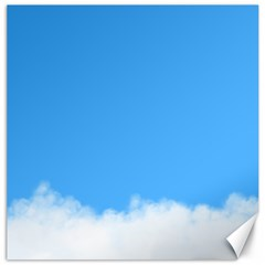 Sky Blue Blue Sky Clouds Day Canvas 20  X 20
