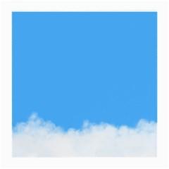 Sky Blue Blue Sky Clouds Day Medium Glasses Cloth
