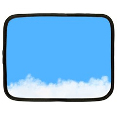 Sky Blue Blue Sky Clouds Day Netbook Case (large)