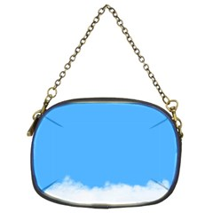 Sky Blue Blue Sky Clouds Day Chain Purses (two Sides)