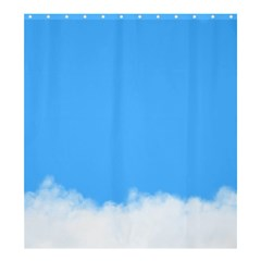 Sky Blue Blue Sky Clouds Day Shower Curtain 66  X 72  (large)