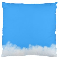 Sky Blue Blue Sky Clouds Day Large Cushion Case (two Sides)