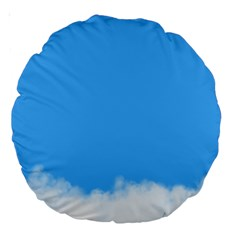 Sky Blue Blue Sky Clouds Day Large 18  Premium Round Cushions