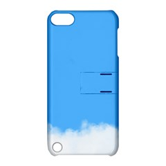 Sky Blue Blue Sky Clouds Day Apple Ipod Touch 5 Hardshell Case With Stand