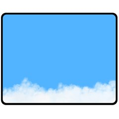 Sky Blue Blue Sky Clouds Day Double Sided Fleece Blanket (medium)