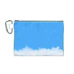 Sky Blue Blue Sky Clouds Day Canvas Cosmetic Bag (m)