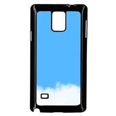 Sky Blue Blue Sky Clouds Day Samsung Galaxy Note 4 Case (black)