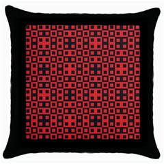 Abstract Background Red Black Throw Pillow Case (black)