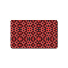 Abstract Background Red Black Magnet (name Card)