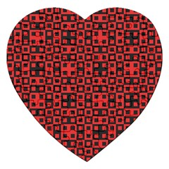 Abstract Background Red Black Jigsaw Puzzle (heart)