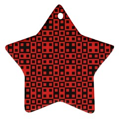 Abstract Background Red Black Star Ornament (two Sides)