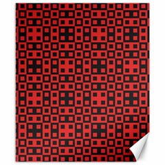 Abstract Background Red Black Canvas 8  X 10