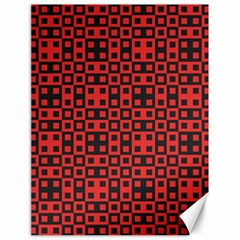 Abstract Background Red Black Canvas 18  X 24